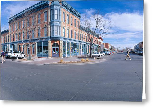Walnut & Linden Streets, Fort Collins Greeting Card by Panoramic Images