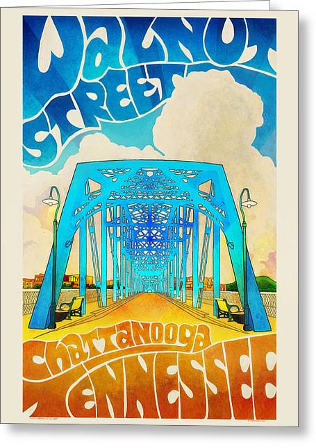Walnut Street Poster Greeting Card by Steven Llorca