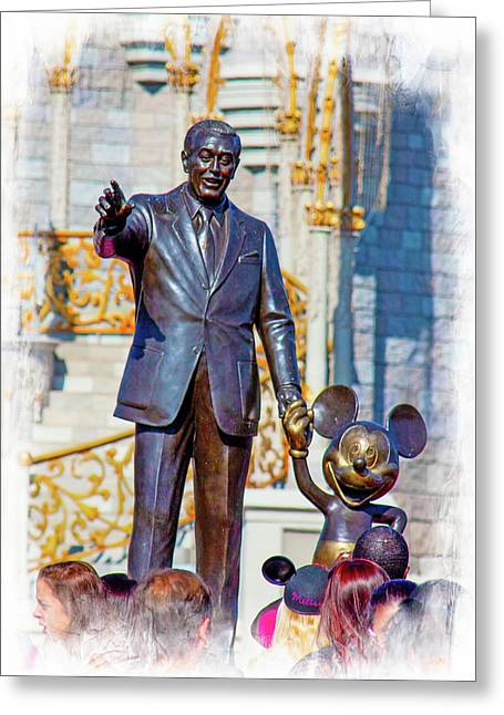 Greeting Card featuring the photograph Walt And Mickey by Mark Andrew Thomas