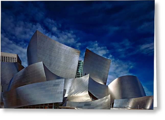 Walt Disney Concert Hall Greeting Card by Anthony Dezenzio