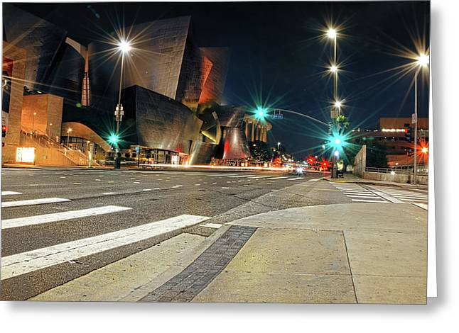 Walt Disney Concert Hall - Los Angeles Art Greeting Card by Lourry Legarde