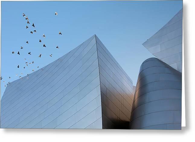 Walt Disney Concert Hall Los Angeles California Architecture Abstract Greeting Card by Ram Vasudev