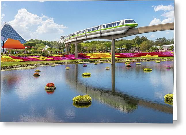 Walt Disney World Epcot Flower Festival Greeting Card