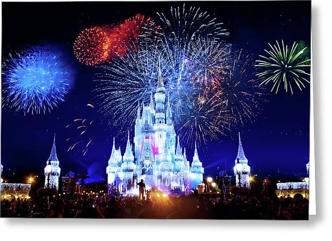 Walt Disney World Fireworks  Greeting Card