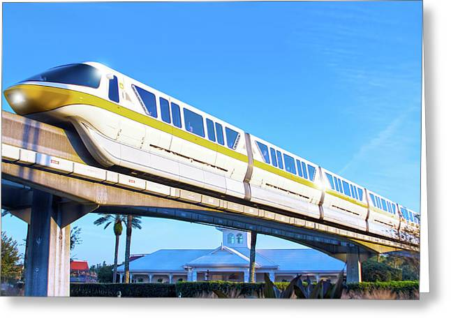Greeting Card featuring the photograph Walt Disney World Monorail by Mark Andrew Thomas