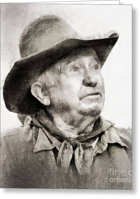 Walter Brennan, Actor Greeting Card