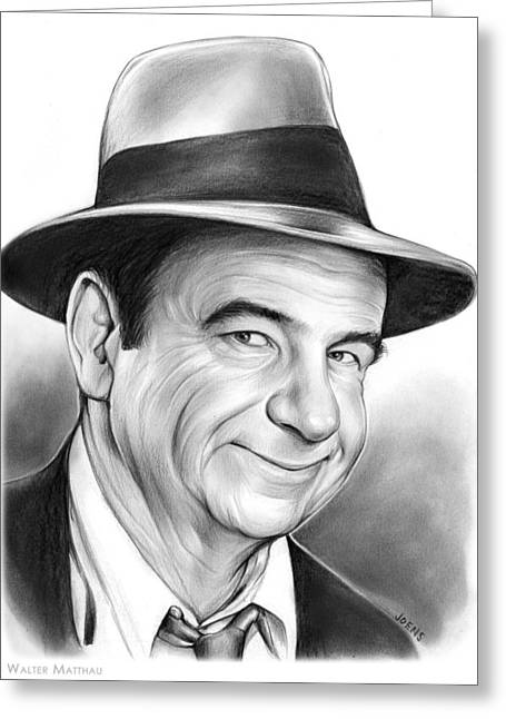 Walter Matthau Greeting Card by Greg Joens