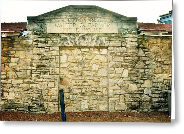 Walter O. Parmer Field House Greeting Card by Lisa Wooten
