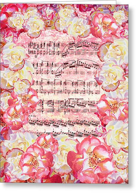Waltz Of The Flowers Sweet Roses Greeting Card