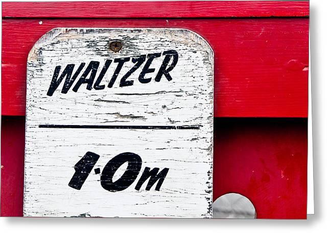 Waltzer Height Limit Greeting Card by Tom Gowanlock