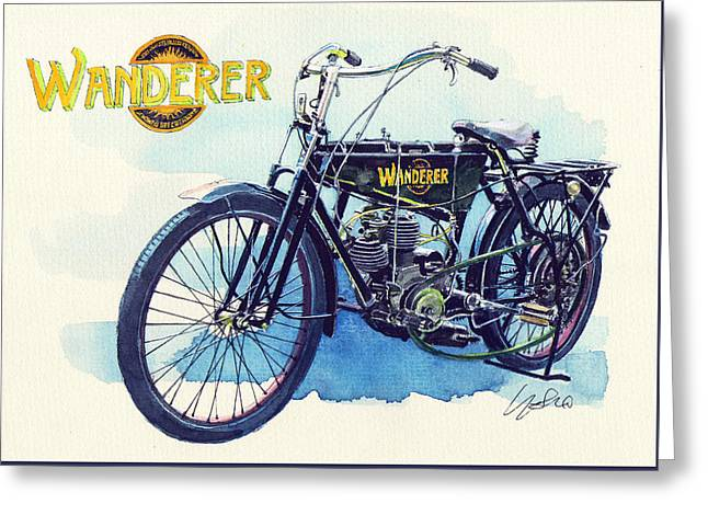 Wanderer Classic Bike Greeting Card