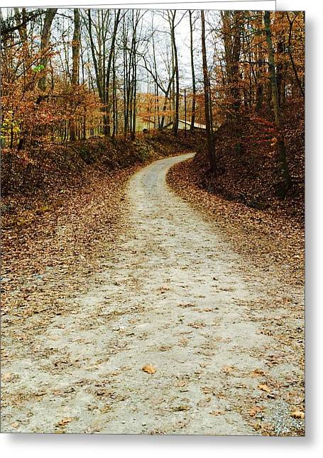 Wandering Road Greeting Card by Russell Keating