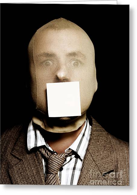 Wanted Criminal With A Crime Stoppers Sticky Note Greeting Card by Jorgo Photography - Wall Art Gallery