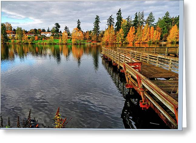Wapato Dock Greeting Card by Tim Coleman