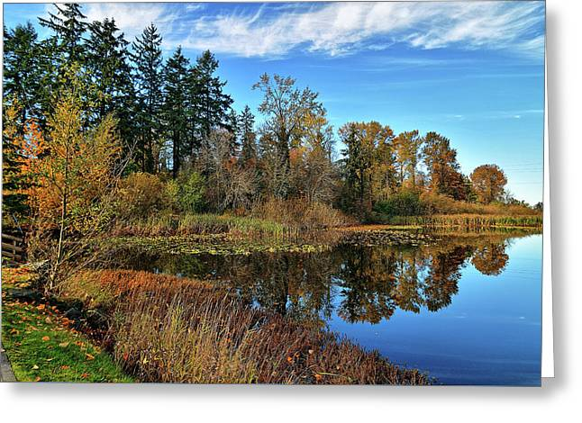 Wapato Lake Greeting Card by Tim Coleman