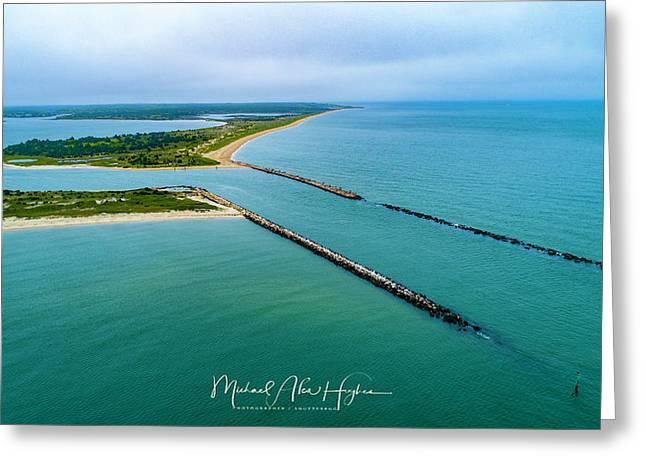 Waquiot Bay Breakwater Greeting Card