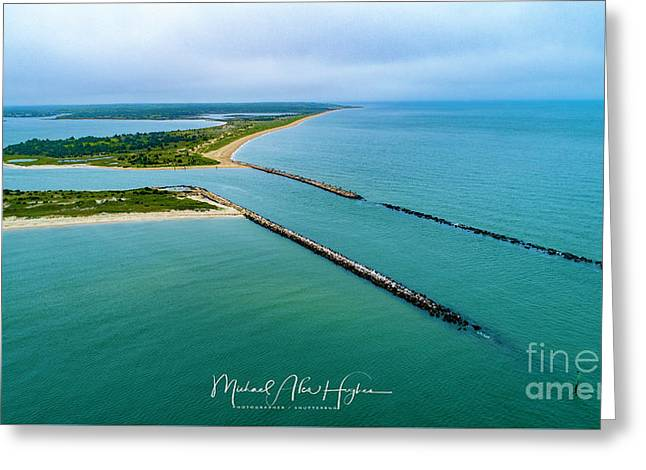 Waquiot Bay Breakwater Greeting Card