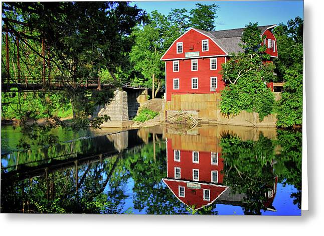 War Eagle Mill And Bridge - Arkansas Greeting Card