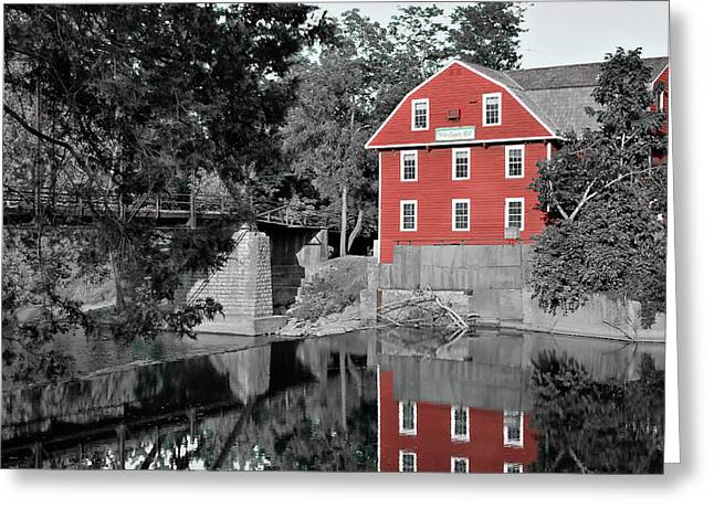 War Eagle Mill Northwest Arkansas - Two Tone Greeting Card by Gregory Ballos