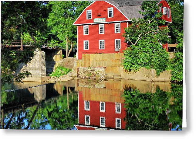 War Eagle Mill Reflection - Northwest Arkansas Greeting Card