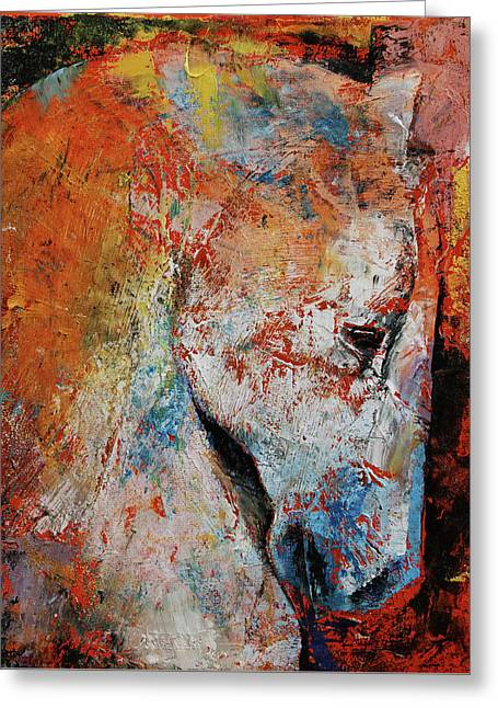 War Horse Greeting Card by Michael Creese