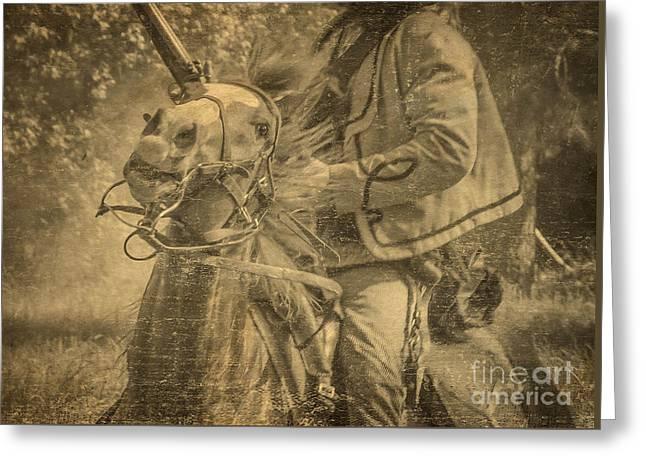 War Horse2 Greeting Card by Kim Henderson