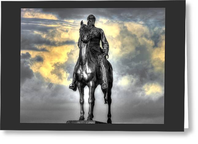 War Horses - Clouds Of War - Maj Gen George Gordon Meade Commander Army Of The Potomac Gettysburg Greeting Card