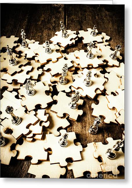 War In A Puzzle Plan Greeting Card