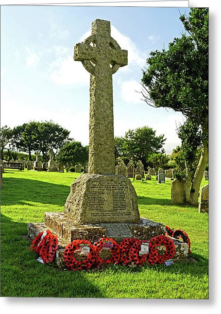 War Memorial - Chale - Isle Of Wight Greeting Card