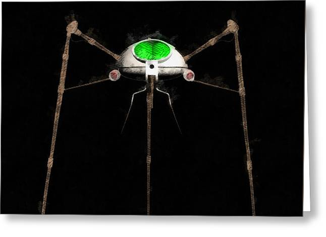 War Of The Worlds Tripod Greeting Card by Raphael Terra