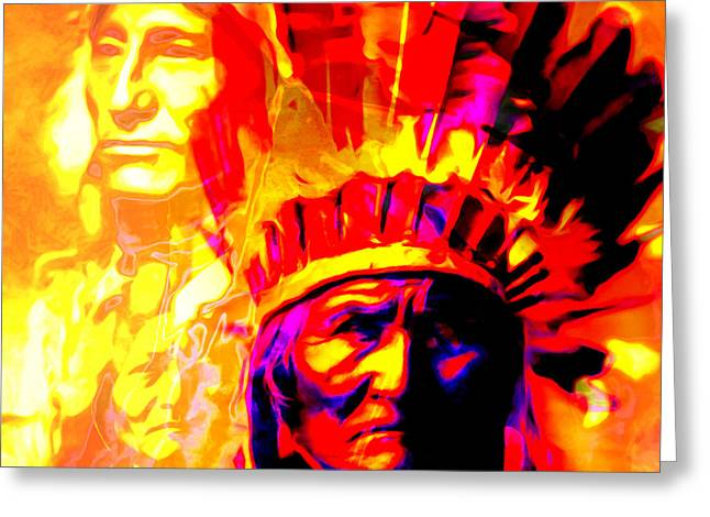 War Path The Warrior Chiefs Final Stand 20151228 Square Greeting Card