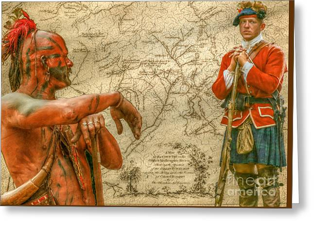 War Paths French And Indian War Greeting Card by Randy Steele
