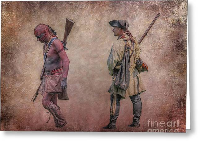 War Trail French And Indian War Greeting Card by Randy Steele