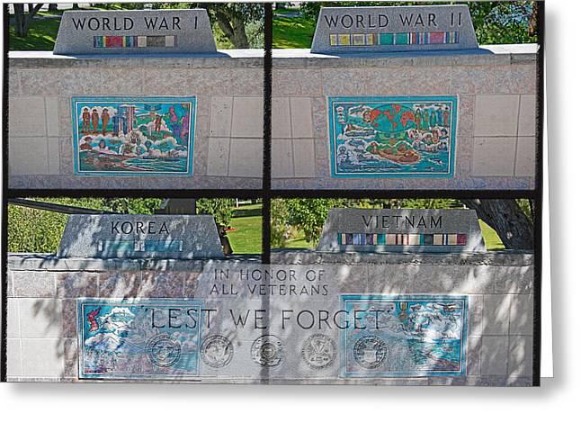 War Veteran Memorial - Idaho Falls Idaho Greeting Card by Steve Ohlsen
