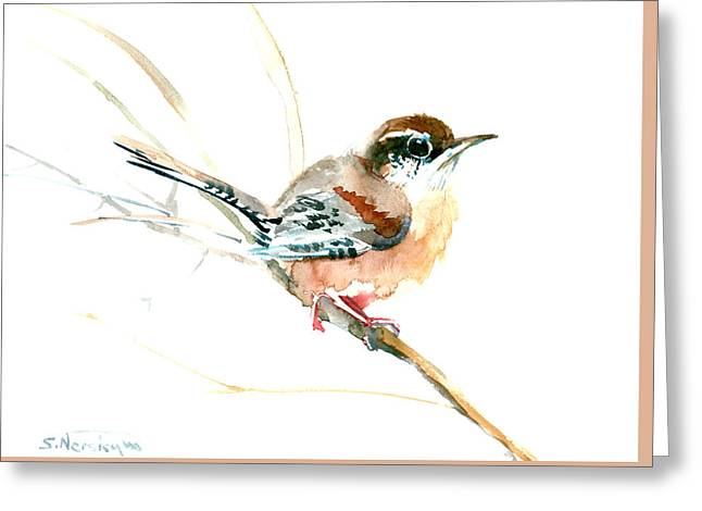 Warbler Songbird Art  Greeting Card