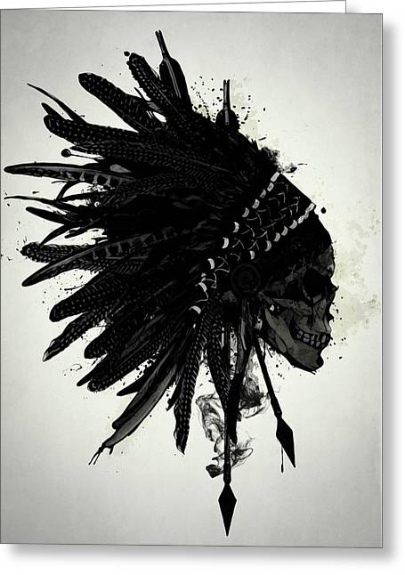 Warbonnet Skull Greeting Card