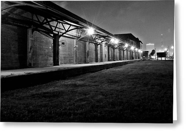 Greeting Card featuring the photograph Warehouse At Night by John Collins