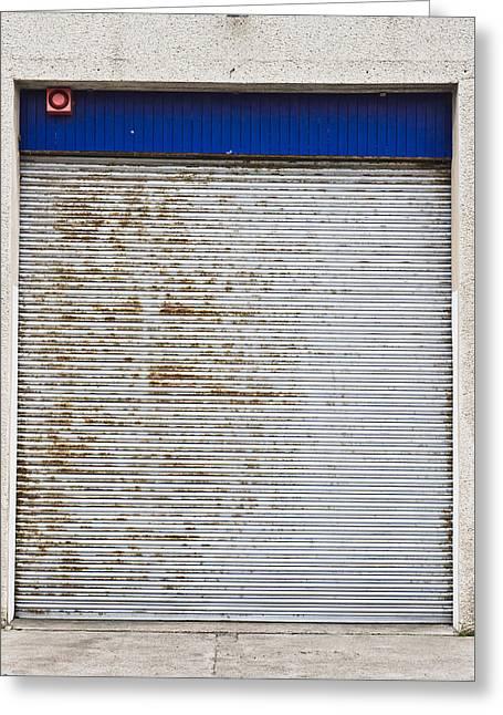 Warehouse Door Greeting Card