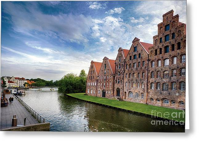 Warehouses Of Old Town Lubeck Greeting Card
