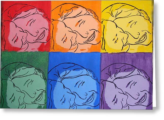 Warhol Inspired Greeting Card by Ashley Porter