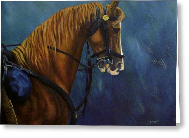 Warhorse-us Cavalry Greeting Card by Joann Renner