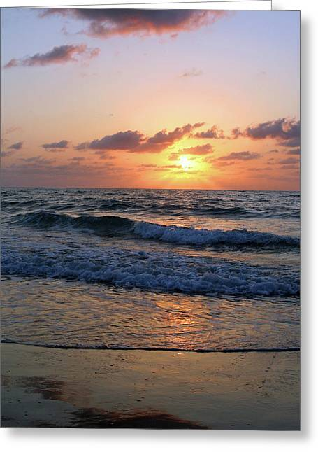Warm Atlantic Sunrise Greeting Card