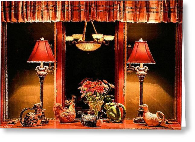 Warm Buffet Greeting Card by Kristin Elmquist
