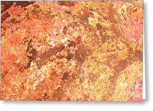 Warm Colors Natural Canvas 2 Greeting Card by Carol Groenen