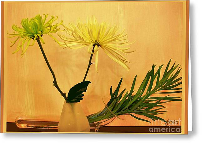 Warm Floral Ll Greeting Card by Marsha Heiken