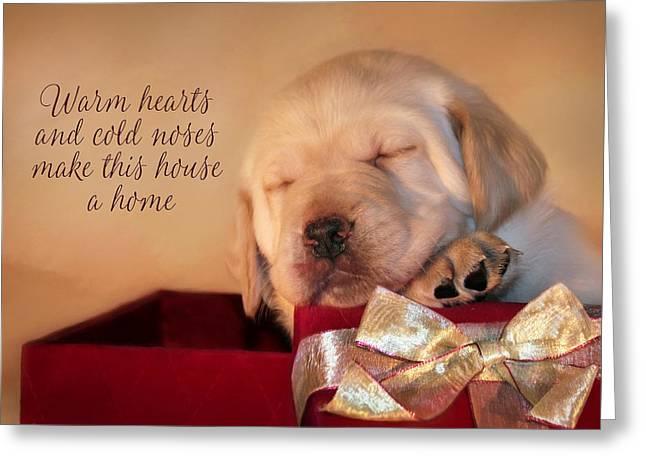 Warm Hearts Greeting Card by Lori Deiter