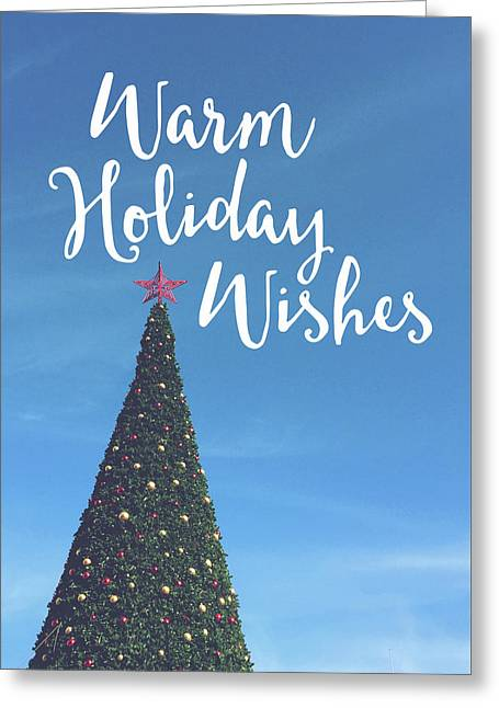 Warm Holiday Wishes- Art By Linda Woods Greeting Card