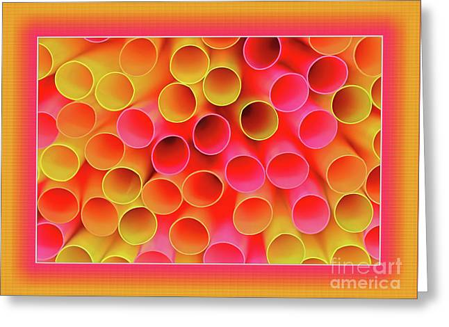 Greeting Card featuring the photograph Warm In Neon By Kaye Menner by Kaye Menner