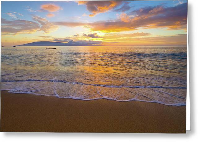 Warm Ka'anapali Sunset Greeting Card