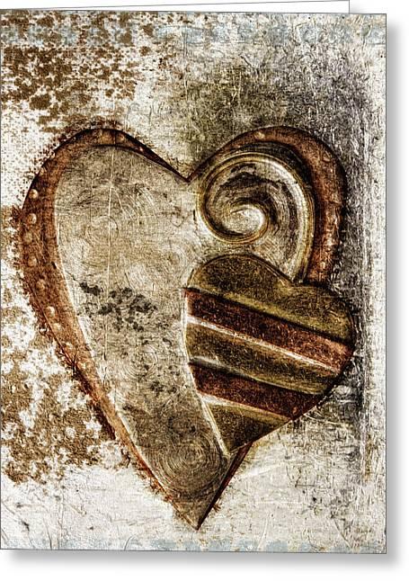 Warm Love Metal Heart Greeting Card